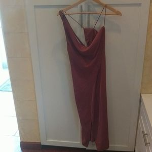 Keepsake Cowl Neck Strappy Backed Dress